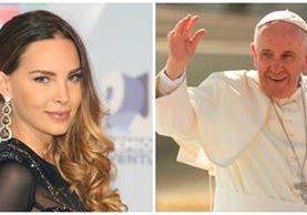 Para ver al papa, la artista se ubicó en un lugar destinado para enfermos. (Foto Prensa Libre: Hemeroteca PL)
