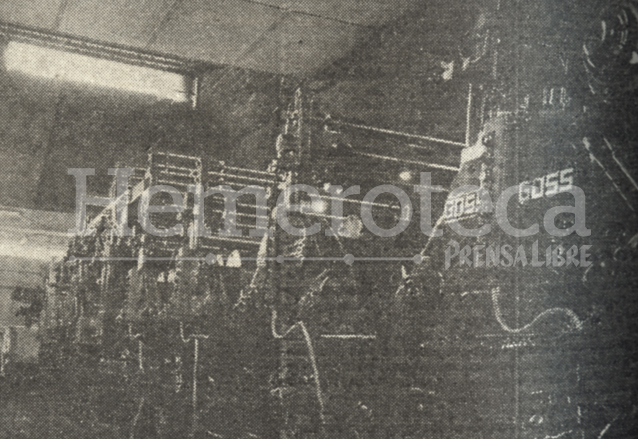 Primera rotativa Goss que funcionó de 1963 a 1978. (Foto: Hemeroteca PL)