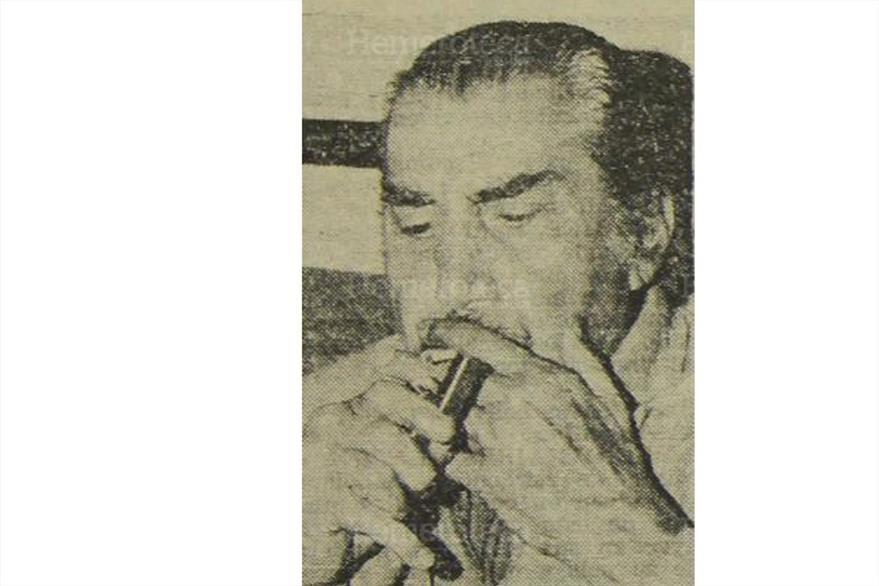4/6/1976 El actor mexicano Emilio Fernández fuma un habano luego de su captura. (Foto: Hemeroteca PL)