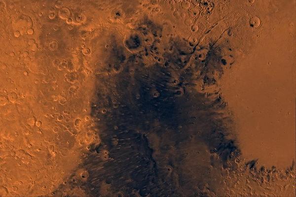 <p>Complejo volcánico marciano Syrtis Major (Foto:NASA)</p>