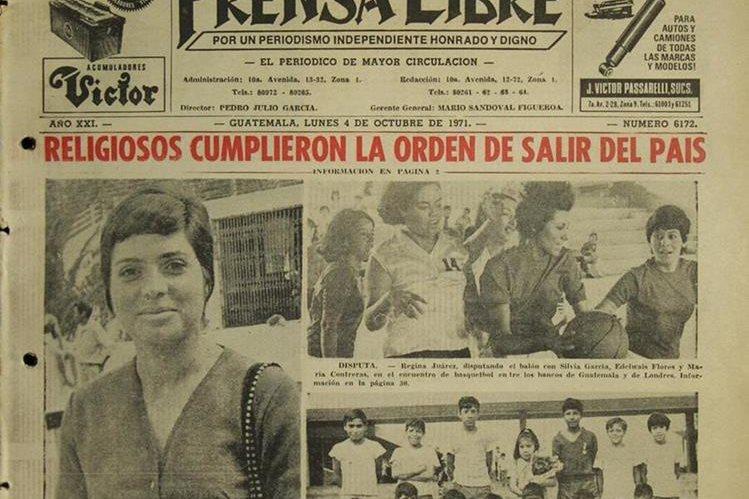 Religiosos expulsados en 1971 por protestar por estado de Sitio. (Foto: Hemeroteca PL)