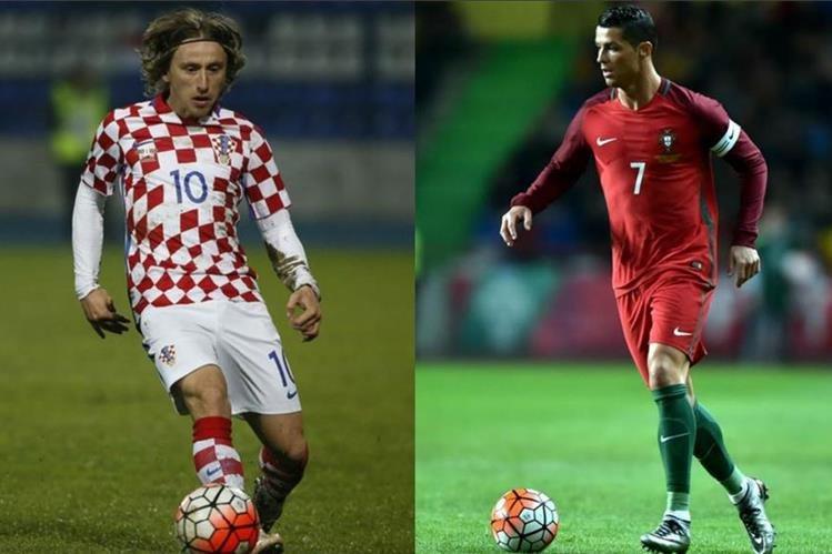 Luka Modric y Cristiano Ronaldo serán rivales mañana en el juego de los octavos de final de la Eurocopa. (Foto Prensa Libre: Hemeroteca)