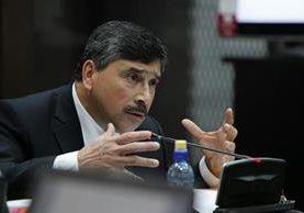 Edgar Barquin negó ante el juez de Mayor Riesgo ser parte de la estructura de lavado y política, dijo ser inocente. (Foto Prensa Libre: P. Raquec)