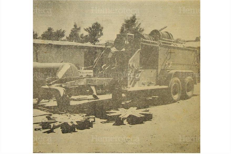 Estado en que quedó esta motobomba luego de que los bomberos dejaran de prestar los servicios en 1955. (Foto: Hemeroteca PL)