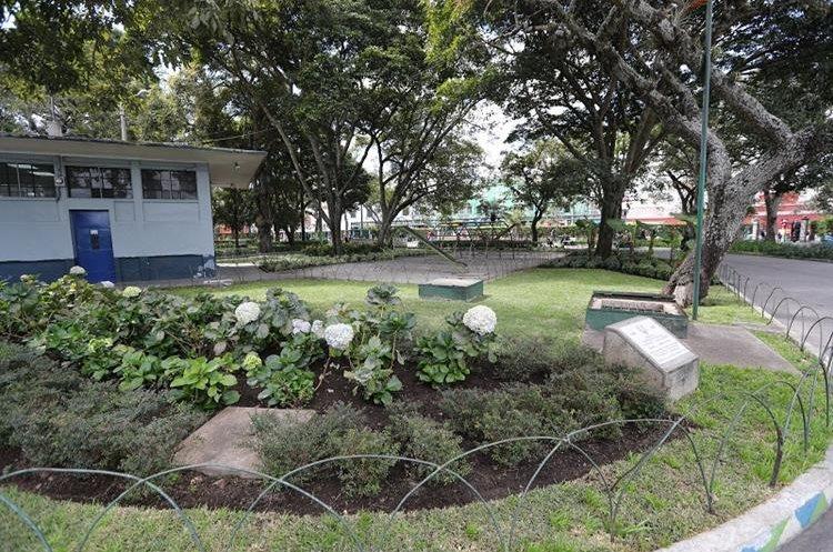 Parte de los jardines del parque Colón, en la zona 1 capitalina. (Foto Prensa Libre: Érick Ávila)