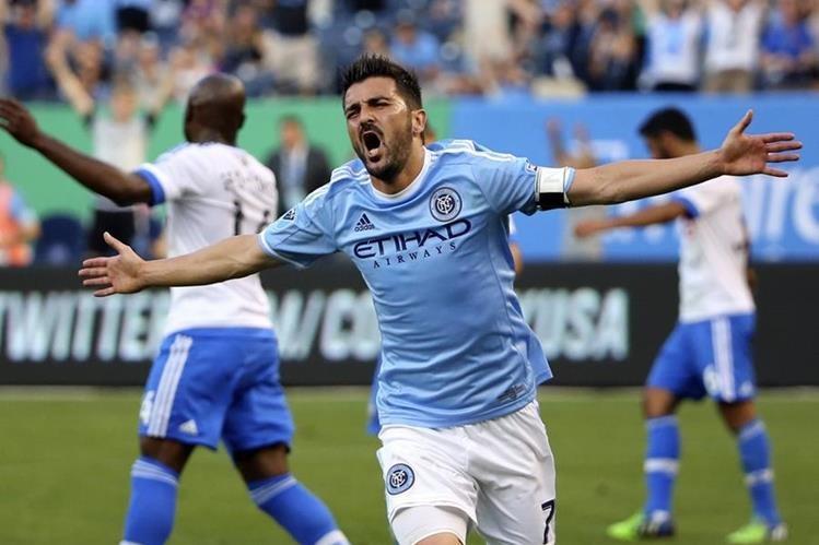 David Villa a destacado en el futbol estadounidense, en el New York City. (Foto Prensa Libre: Hemeroteca PL)