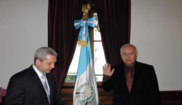 Aldo Estuardo García Morales fue juramentado nuevo ministro de Comunicaciones. (Prensa Libre: Internet)