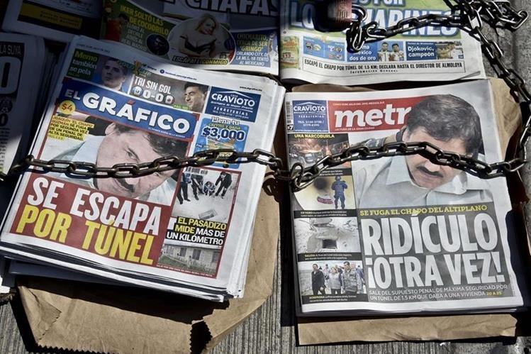 El Chapo llegó a ser el capo más buscado en México, al escaparse de una cárcel de máxima seguridad. (Foto Prensa Libre: AFP)