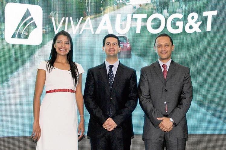 Isis Santisteban, directora de Ventas; Christian Nolck, gerente de Seguros y Fianzas, y Manglio Rodas, gerente de Servicios de Seguros G&T.