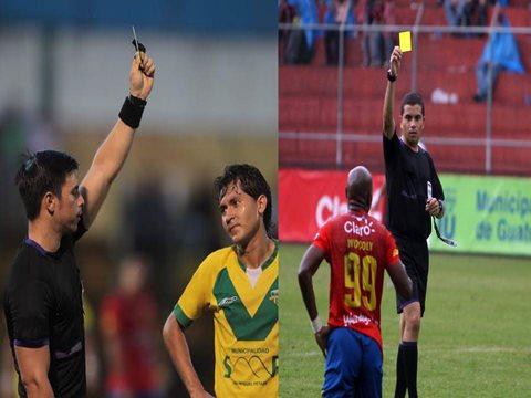 Jonathan Polanco (d) y Armando Reyna fueron designados para impartir justicia en los duelos de vuelta de las semifinales del Apertura 2015 (Foto Prensa Libre: Hemeroteca PL)