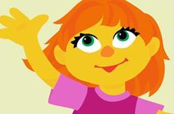 Ella es Julia, la nueva integrante de Plaza Sésamo que representa a los niños con autismo. (Foto Prensa Libre: YouTube)