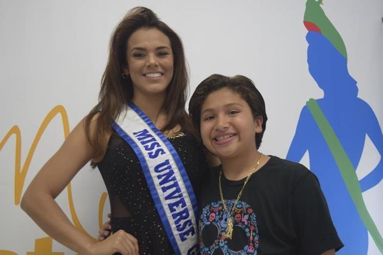 Miss Universo Guatemala, Virginia Argueta, convivió con el actor Anthony González, quien ha destacado en Hollywood. (Foto Prensa Libre: Giovanni Bautista)