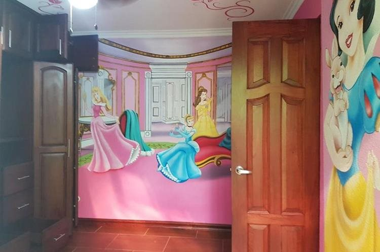 Habitación infantil en el segundo piso de la casa. (Foto Prensa Libre: PNC)