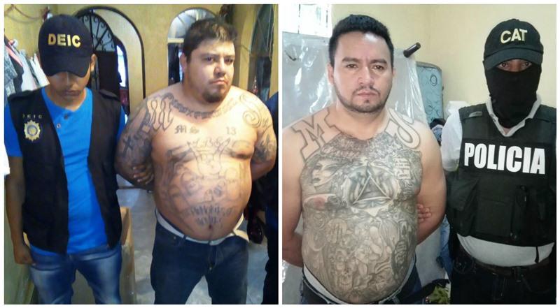 Fuerzas de seguridad han capturado a dos líderes de la Mara Salvatrucha. (Foto Prensa Libre: PNC)