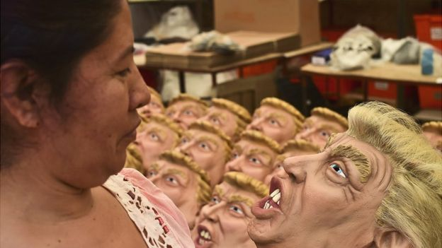 Máscaras de Trump. GETTY IMAGES.