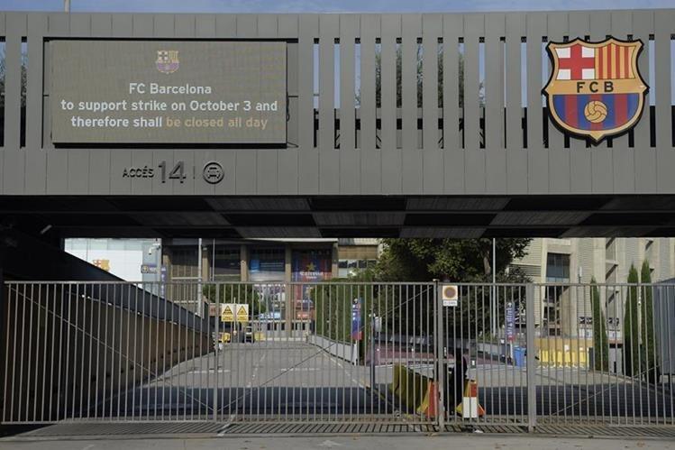 El FC Barcelona se ha mostrado en favor de los independentistas catalanes. (Foto Prensa Libre: AFP)