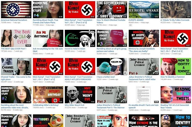 Canal de YouTube es clausurado por promover el racismo. (Foto Prensa Libre: YouTube)