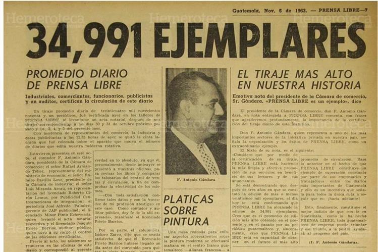 Página de Prensa Libre donde se da a conocer ejemplares impresos. (Foto: Hemeroteca PL)