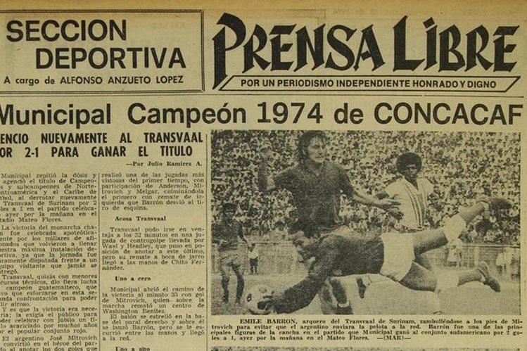 Rojos campeones de concacaf en 1974 for Los rojos de municipal