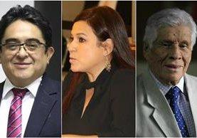Integrantes de la terna para elegir al próximo PDH. (Foto Prensa Libre: Jessica Gramajo)