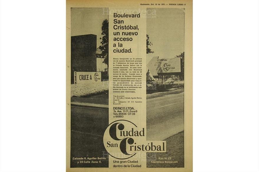 """""""Ciudad San Cristóbal"""", la nueva alternativa para vivir en octubre de 1971. (Foto: Hemeroteca PL)"""