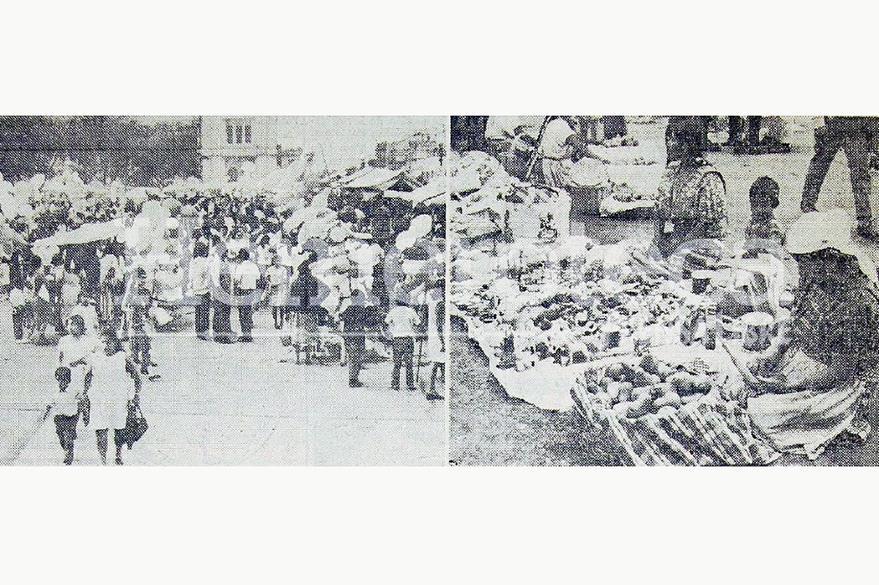 Vista de la fiesta del jueves de corpus de 1970 en la Catedral Metropolitana (Foto Prensa Libre: Hemeroteca)