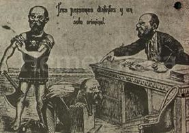 Esta viñeta de 1920 retrataba el repudio hacia la tiranía de Estrada Cabrera. (Foto: Hemeroteca PL)