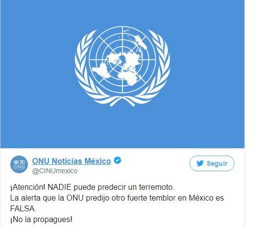 Las Naciones Unidas han desmentido la supuesta alerta.