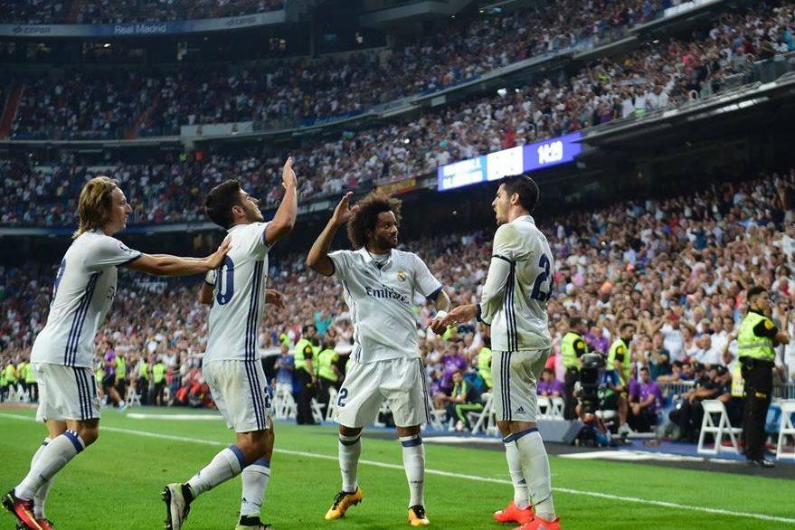 Álvaro Morata abrió el marcador en el Santiago Bernabéu. (Foto Prensa Libre: AFP)