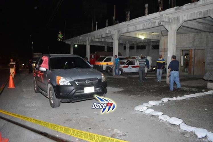 Camioneta en la que se transportaba Alexander Morales Arroyo. (Foto Prensa Libre: DoceTv).