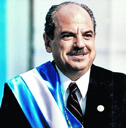 Jorge Alberto Serrano Elías ganó en la segunda vuelta electoral, el 6 de enero de 1991. Duró en el poder dos años. (Foto: Hemeroteca PL)