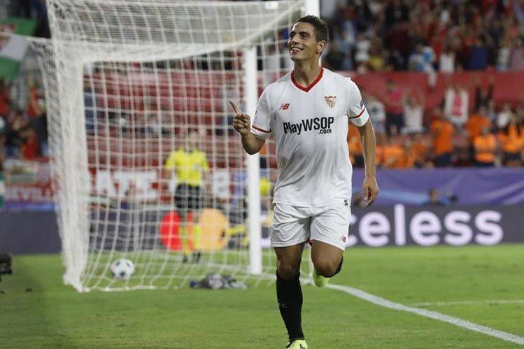 Ben Yedder fue la figura para el Sevilla en el triunfo al conseguir un triplete. (Foto Prensa Libre: EFE)