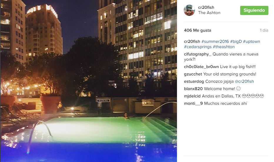 Ruiz está teniendo un momento de distracción en Estados Unidos. (Foto Prensa Libre: Carlos Ruiz/Instagram)