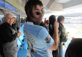 Liam Gallagher antiguo miembro de la banda británica Oasis, es un declarado seguidor del Mánchester City. (Foto Prensa Libre: Hemeroteca)