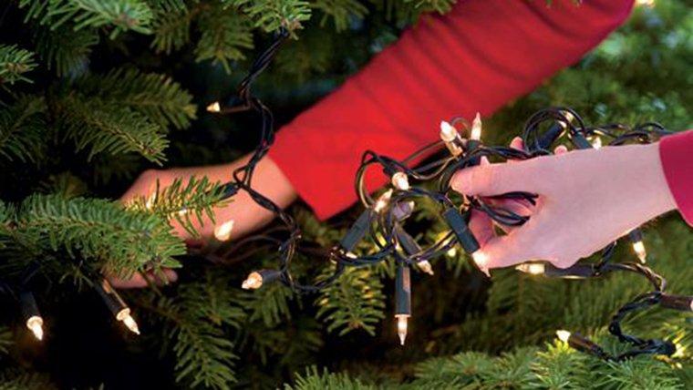 Las luces para el árbol de Navidad deben revisarse para evitar accidentes en el hogar. (Foto Prensa Libre:filesedc.com)