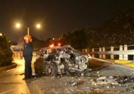 Accidente ocurrió aproximadamente a las 2 de la madrugada. (Foto Prensa Libre: CBM)