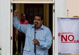 Nicolás Maduro, presidente de Venezuela, rechazó el jueves la ley de Amnistía. (Foto Prensa Libre: EFE).