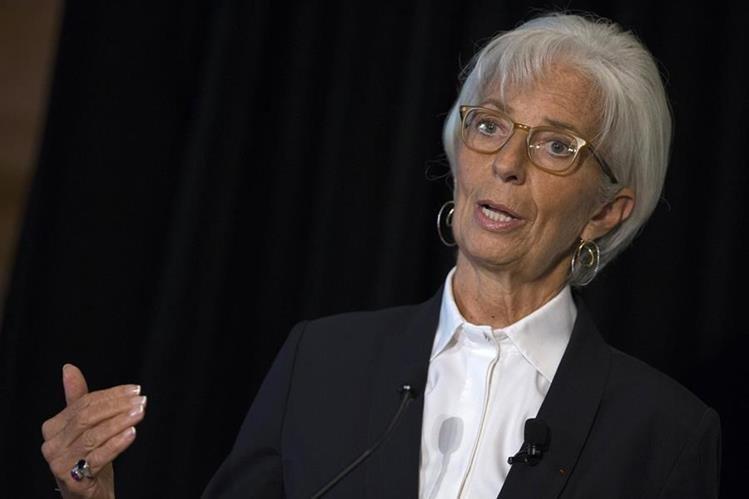 Christine Lagarde, directora gerente del Fondo Monetario Internacional (Foto Prensa Libre:AP)