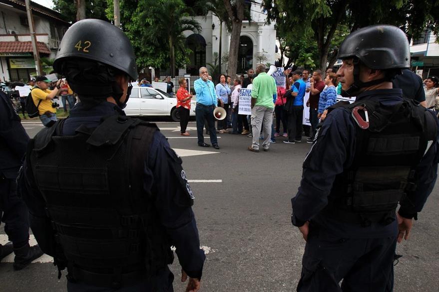Seguidores de Martinelli protestan en Panamá. (EFE)