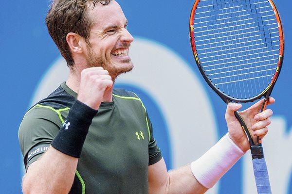 El tenista Andy Murray celebró ayer su victoria en el torneo de Múnich. (Foto Prensa Libre: EFE).