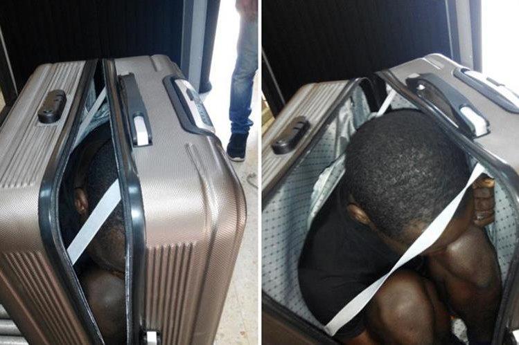 FOTOS: Detienen a mujer por llevar joven dentro de maleta