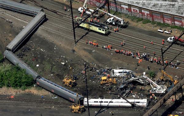 Panorámica del área donde ocurrió el accidente ferroviario.