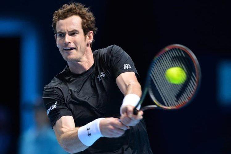 El escocés Andy Murray, quien lidera el equipo de Gran Bretaña, retrasó un día su viaje a Bélgica debido al nivel de alerta máxima en la región. (Foto Prensa Libre: AFP)