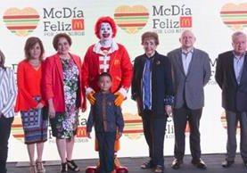 Directivos anuncian la decimonovena edición del McDía Feliz 2017. Más de 3 mil 500 niños fueron beneficiados en el 2016 a través de esta causa. (Foto Prensa Libre: Hemeroteca PL)