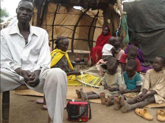 Un grupo de refugiados en Sudán del Sur. (Foto: Acnur.org).