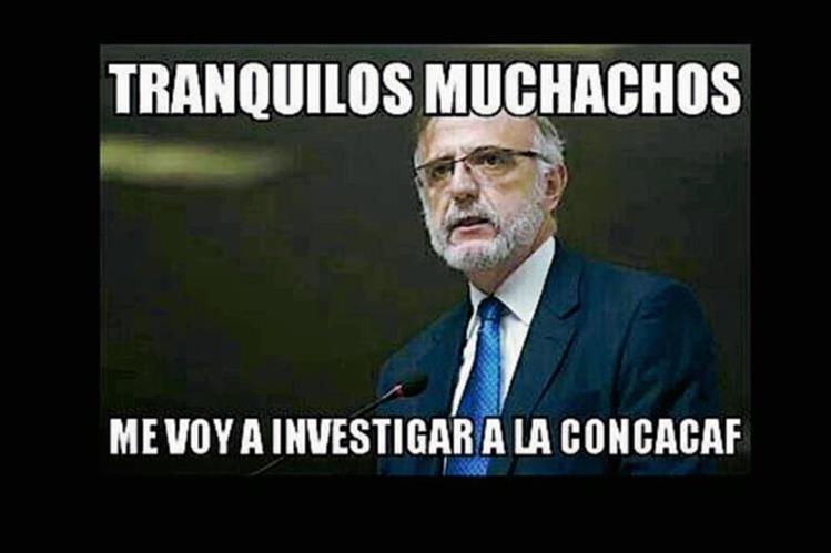 La CICIG podría investigar a la Concacaf, según este meme. (Foto Prensa Libre: Redes Sociales)