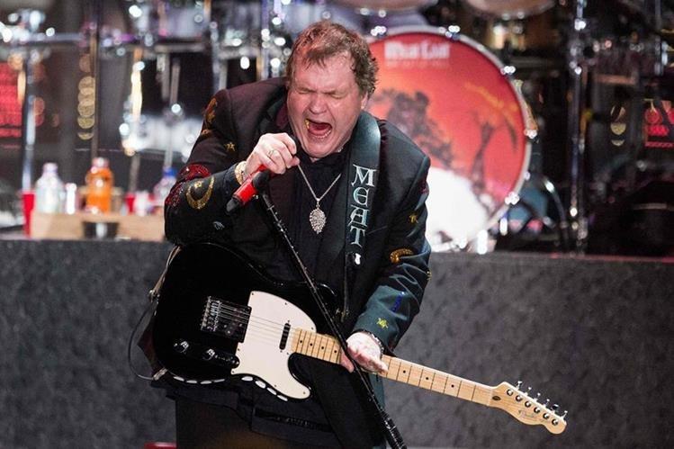 Meat Loaf tuvo problemas en el escenario. (Foto Prensa Libre: AFP)