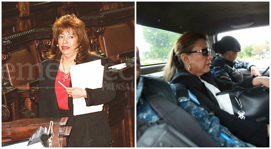 La exdiputada Anabella de León luego de luchar contra la corrupción es llevada a Tribunales. (Foto Prensa Libre:)