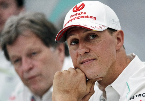 Michael Schumacher continúa sin poder reponerse completamente del accidente sufrido hace dos años. (Foto Prensa Libre: AP)