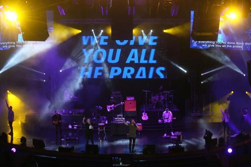 Los australianos de PlanetShaker ponen punto final a Explo Music Fest 2016. (Foto Prensa Libre: Josué De León)